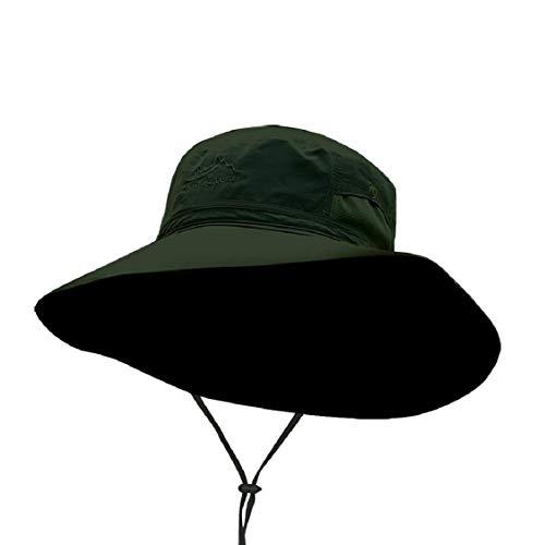 Vaycally Bucket Hat Boonie Jagd Angeln Outdoor Cap Sommer UV-Schutz Strandhut Showerproof Hat Faltbarer Angelhut mit verstellbarem Kinnriemen und atmungsaktivem Mesh Camo -
