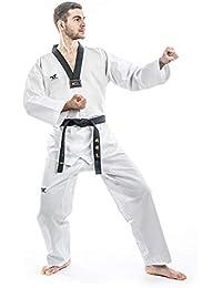 Tusah Taekwondo Traje TKD Dobok – Parte Superior con Solapa Negra – Deportes de Lucha Traje