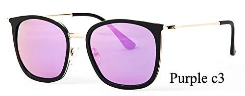 LKVNHP Marke Kleine Rahmen 28g Polarisierte Sonnenbrille Frauen Platz Mode Uv Protector Hd Sonnenbrille Spiegel Fishings WeiblicheWPGJ167 Lila C3