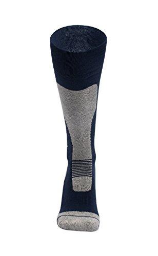 Barrageon calze da sci termiche calde per sci, snowboard, ciclismo, trekking, controllo dell'umidità anti-batterici anti-odore per uomo donna blu-l