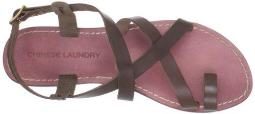 Chinese Laundry Aasha Damen Offener Spitze Leder Slingback Sandale Brown