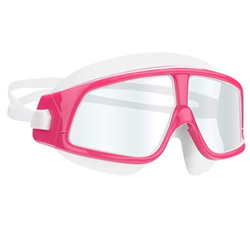 CHMASK Goggle Enfant, Haute Définition Anti-buée Imperméable 3D Ergonomique Conception Confortable Lunettes De Plongée Masque pour Unisexe Garçons Filles Sport d'eau (Couleur : Rose)