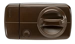 Verrou de porte radio Secvest 2WAY avec bouton de porte tournant, marron