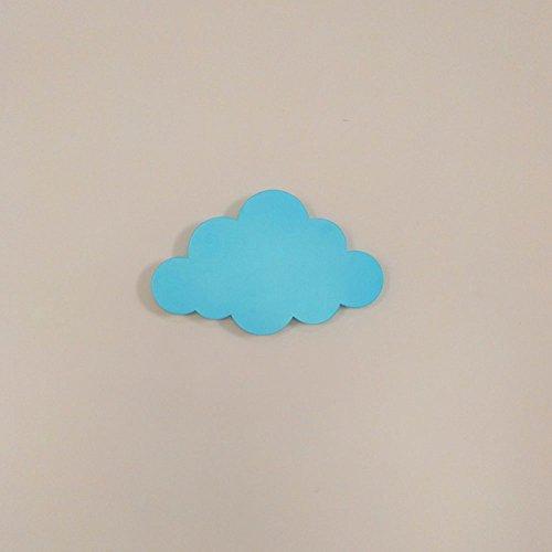 Kreative LED Cloud Wandleuchte Schlafzimmer Nachtlampe Kinderzimmer Hintergrund Bekleidungsgeschäft Kindergarten Dekorative Wandleuchte Beleuchtung (Color : Blue)