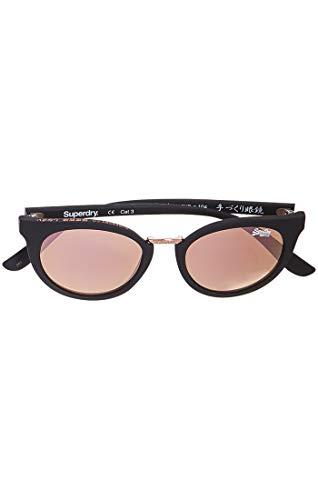 Superdry Damen SDR Aubrey Sonnenbrille, Mehrfarbig (Matte Black/Rose Gold), 50.0