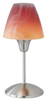 Trio-Leuchten 575010118 Energiespar-Tischleuchte,1xE14,7W,Nickel matt,Glas alabasterfarbig orange von Trio Leuchten auf Lampenhans.de