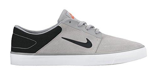 Nike Sb Portmore Premium, Chaussures de Skate Homme Multicolore - Gris / Negro / Naranja / Plata (Wlf Gry/Blk-Brght Crmsn-Pr Plt)