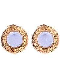 Córdoba Jewels | Pendientes en plata de Ley 925 bañada en oro rosa. Diseño Imperium Agua Marina Oro Rosa