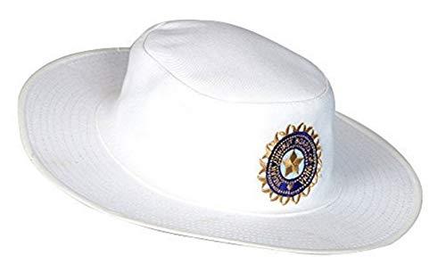 Zacharias Men's Cotton Cricket Umpire Hat White Free Size with Logo