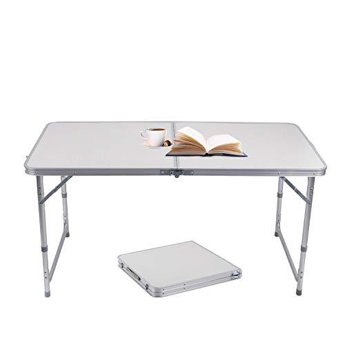 Tavolo In Alluminio Da Campeggio.Sunreal Tavolo Pieghevole In Alluminio Portatile Da Campeggio Tavolo