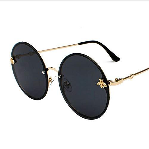 Runde Sonnenbrille Zeigen Eine Schlanke Und Gut Abgestimmte Randlose Sonnenbrille (Lenses Color : Black)