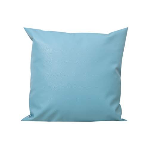 Deloito Leder Ölwachs Werfen Kopf Kissenbezüge Sofa Stuhl Kissen Kissenhülle Party Picknick Hochzeit Büro Zierkissenbezüge Home Decor (Blue,45x45cm) -
