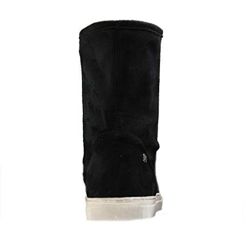 ALESSANDRO MILANO - 109-2 Alabama - Damen Halbschaft Stiefel - Schwarz XXL Schuhe in Übergrößen Schwarz