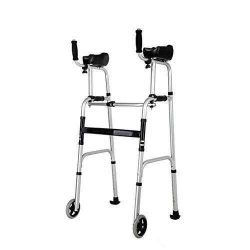 Fahren Sie EIN medizinisches Zweirad-Gehgestell, das mit einem Knopf zusammengeklappt Werden kann. Höhe einstellen. Softgrip-Arm, Gewicht der Last 180 kg - Ersatz-arm-antrieb