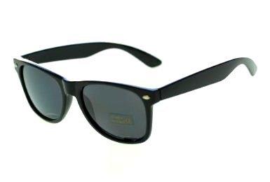 Nerd Sonnenbrille in Wayfarer Optik Horn-Brille oder Atzen bzw. Party Brille genannt Schwarzer Rahmen