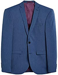 Next Homme Costume Tonique Stretch Veste Coupe Slim Bleu EU 112 XLong (UK  ... 6c2f63e48dda