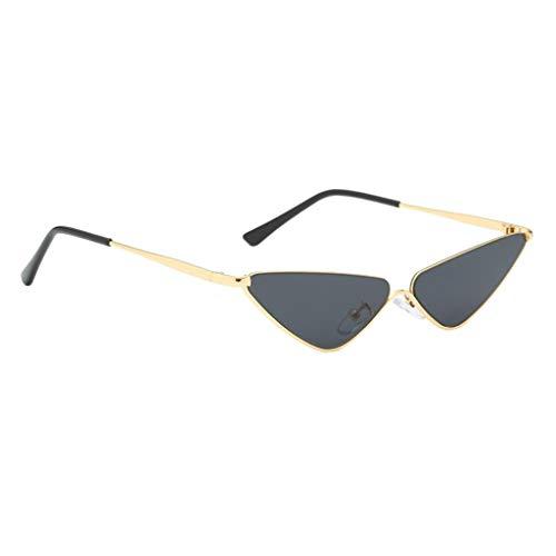 B Baosity Sonnenbrille Kleine Dreieck Metallrahmen Brille Unisex Gläser - Schwarz