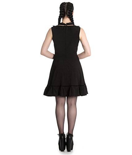 Spin Doctor Bellatrix Mini Short Alternative Gothic Dress Black – UK 10 (S)