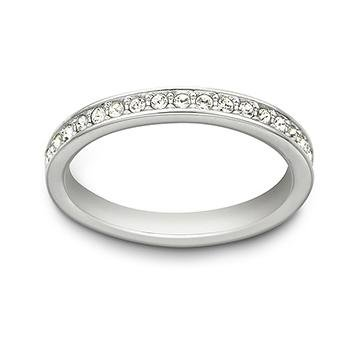 Swarovski Damen-Damenring Metall 50 Silber 32004449
