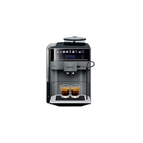 Siemens EQ.6 plus TE651209RW - Cafetera (Independiente, Máquina espresso, 1,7 L, Molinillo integrado, 1500 W, Negro, Titanio)