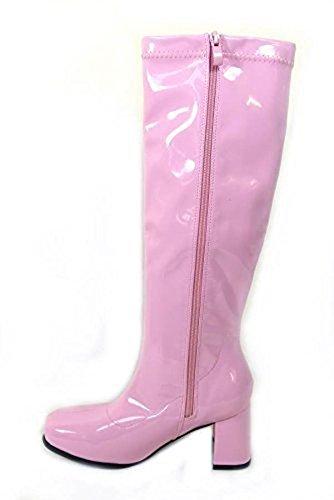 Fashion World Online Stores Ltd, Damen Kniehohe Stiefel, weiß - Rose - Größe: 42
