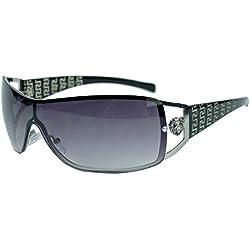 randlose Fashion Sonnenbrille im Designer Stil für Herren u. Damen KL39 (Schwarz)