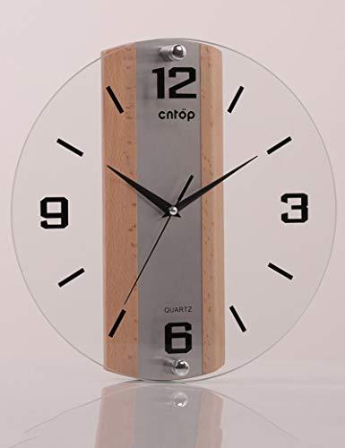 QBZ Glocke-Wanduhr Metall Genaue Runde Glas Europäischen Minimalistischen Kreative Schlafzimmer Büro -1 X AA Batterie (Nicht Enthalten),B