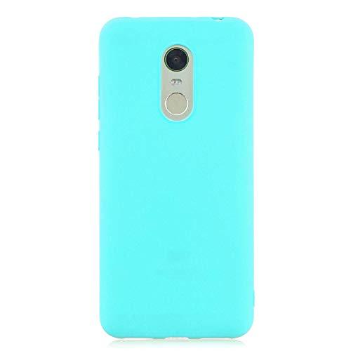 cuzz Funda para Xiaomi Redmi 5 Plus+{Protector de Pantalla de Vidrio Templado} Carcasa Silicona Suave Gel Rasguño y Resistente Teléfono Móvil Cover-Azul Claro