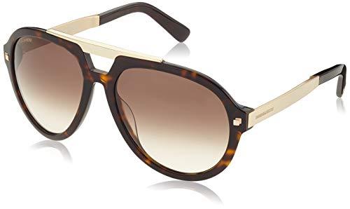 Dsquared2 dq0226-52f-braun occhiali da sole, marrone (braun), 62.0 uomo