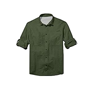 31F3OWijgAL. SS300  - Jessie Kidden Men's Long Sleeve Fishing Shirts Casual Sun Protection Upf 50+ Uv Outdoor Quick Dry Lightweight Cooling Hiking Shirt