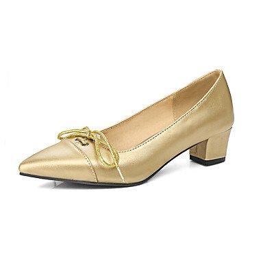 LYNXL Tacco grosso Donna Casual Tacchi Primavera Estate Altri similpelle abito Altro Argento Oro Grigio Silver