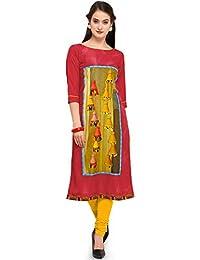 09ca6508dec SHOPONBIT present digital print with bell design multicolor color fabric  royal crepe kurti for women s in