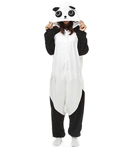Onesies mit Kapuze Erwachsene Unisex Cospaly Schlafanzug Halloween Kostüm Panda Geeignet für Hohe 160-175CM (Kawaii Panda Kostüm)