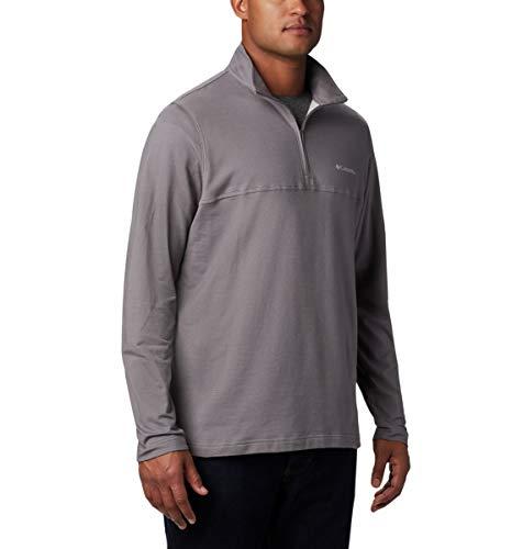 Columbia Herren Rugged Ridge 1/4 Zip Pullover, City Grey Heather, 2X Hoch (Columbia Pullover Für Männer)