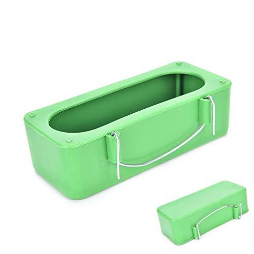 Ogquaton Tazas de alimentación para Loros de Aves, Jaula de pájaros para Mascotas Mini comedero de plástico para Alimentos Tamaño del tazón M Verde Durable y práctico