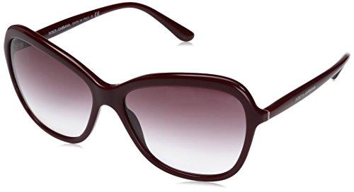 Dolce & Gabbana Damen 0DG4297 30918H 59 Sonnenbrille, Rot (Bordeaux/Violetgradient),