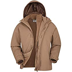 Mountain Warehouse Chaqueta Fell Impermeable 3 En 1 Para Hombre Con Forro Polar