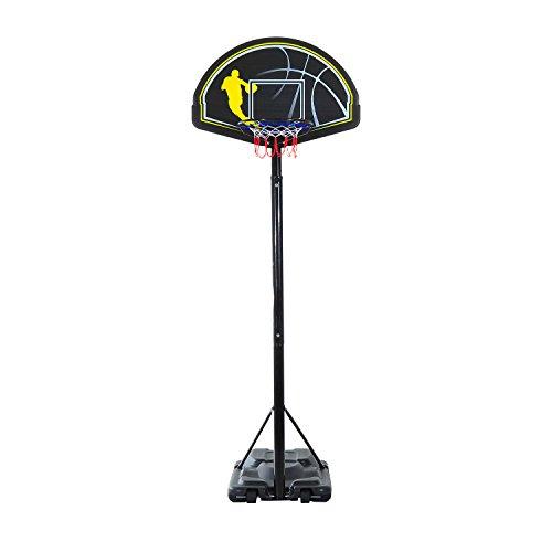 Homcom - Canestro da Basket con Supporto, Misura XXL, Altezza Max.: 365 cm