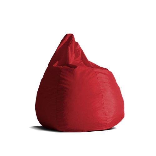 Pouf-poltrona-sacco-media-BAG-L-Jive-tessuto-tecnico-antistrappo-rosso-imbottito-Avalon