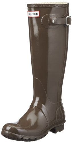 Hunter Original Tall Gloss W23616 Damen Gummistiefel Braun (Cocoa)
