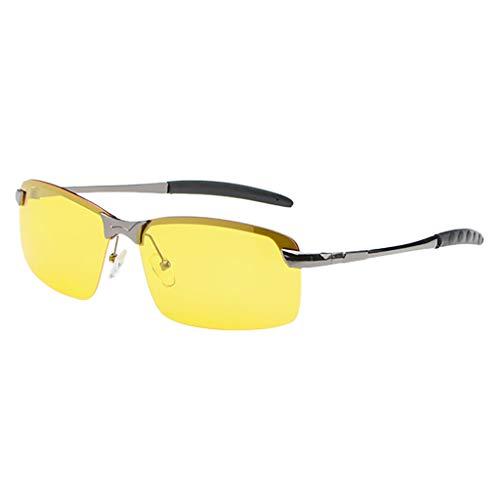 Igemy Nachtsichtbrillen Vision Blendschutztreiber Polarized UV400 Fit über Erwachsenen (Grau)