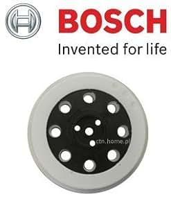 Bosch Genuine Plateau de ponçage en caoutchouc pour ponceuses Bosch GEX 125A & GEX 125AC Ponceuses excentriques Diamètre 125 mm 2608601901) c/o batterie