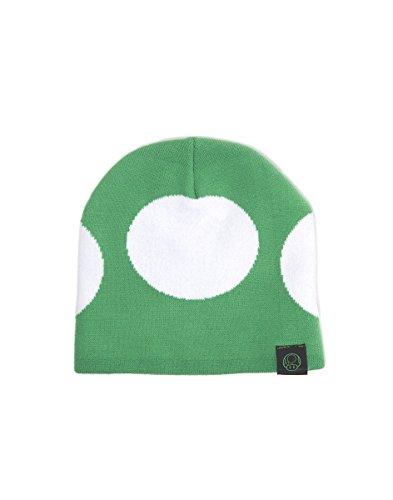 Super Mario. Sombrero verde / blanco inspirado por un hongo verde de videojuego Super Mario.