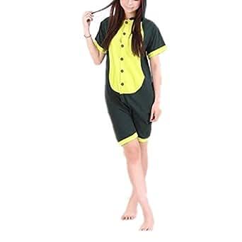 Ghope New Summer Wear Short Sleeves Unisex Japanese Animal cosplay costumes anime hoodie onesie for Children Kids Men Women - Pokemon Dinosaur Stitch Rilakkuma My Neighbor Totoro (XS (105-125CM), Panda)