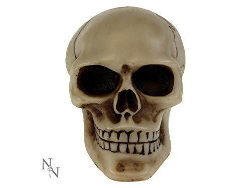 Preisvergleich Produktbild Weird Or Wonderful Nemesis Now Schaltknauf mit Totenkopf-Motiv,  universal,  8 cm,  Gothic-Stil,  Auto,  Van,  LKW,  Chrom,  Horror-Skelett-Geschenk
