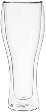 Cristal Collection Double Wall Tumbler, Elegant Classic Design, Perfect Glasses for Water, Juice, Beer, Wine,