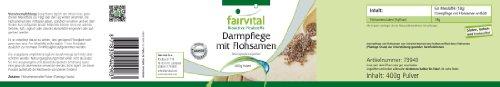 Darmpflege Pulver mit Flohsamen – für 20 Tage – HOCHDOSIERT – VEGAN – 400g – 100% reines Psyllium