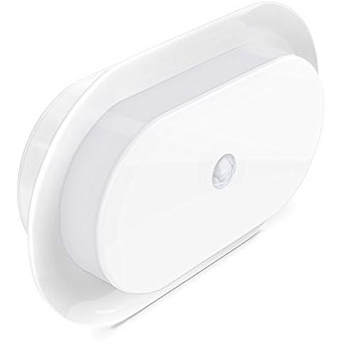 Aglaia Apliques Luce da Parete, Lampada 10 LED con Sensore di Movimento e Striscia Magnetica, Bianco Freddo, Alimentata da Betteria.