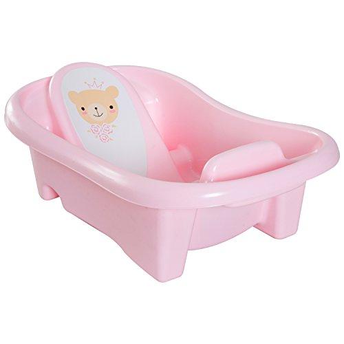 homcom 400-007PK Babybadewanne Babywanne Badesitz 2-stufig Baby Kunststoff, rosa