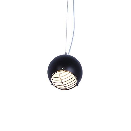 Nordic kleine Lampe orb kreative Schlafzimmer Bett Kronleuchter Anhänger bar Persönlichkeit Hängeleuchte, Schwarz Ball + Schwarz Netz -